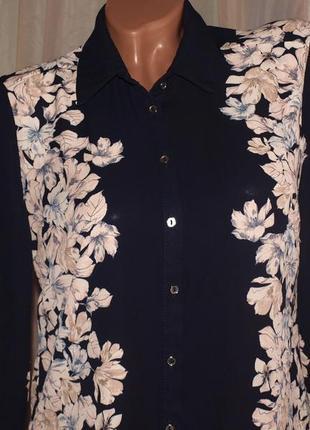 Шикарная блуза (м замеры) узор на 2 стороны, лёгкая, превосходно сомтрится2 фото