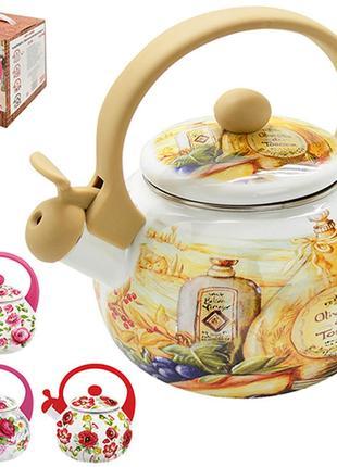 Чайник со свистком эмаль