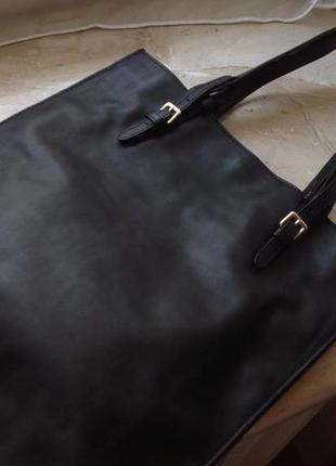 Zara basic collection leather bag made in india оригинал!фирменная кожаная сумка шопер