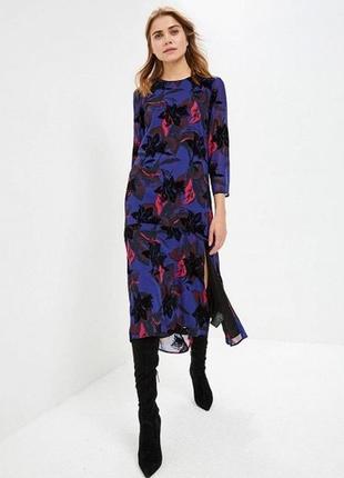 Y.a.s платье синее цветочный принт