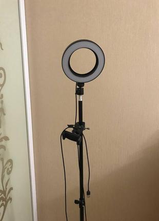 Селфи кольцевой светильник с подставкой для штатива и подставкой для мобильного телефона