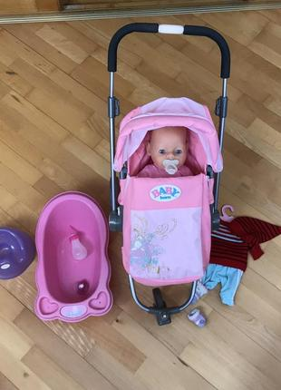 Baby born кукла, коляска, аксессуары