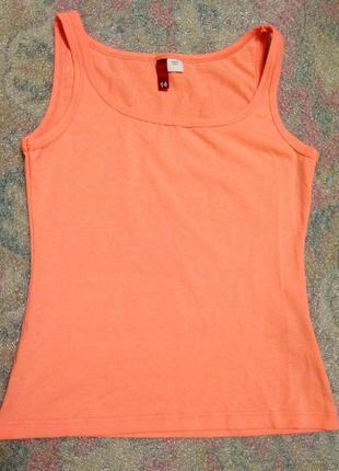 Яркая светлая неоновая персиковая оранжевая коралловая майка стильная хс-ххл спорт фитнес