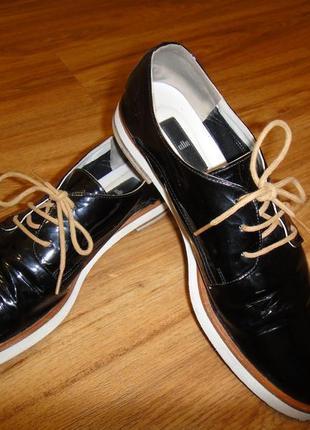 Распродажа!!!  лаковые женские туфли elle р.39 (25см)  европейское качество