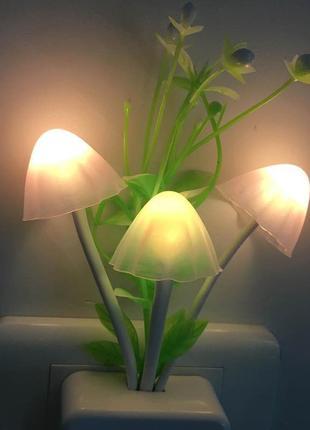 Светодиодный ночник с датчиком света грибы пандоры
