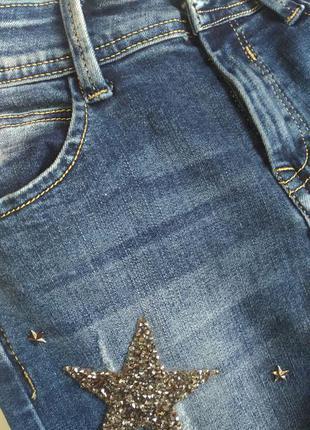 Супер модные джинсы скини в звездах