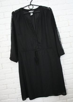 Платье рубашка с кружевом