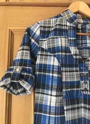 Блузка-рубашка в клетку