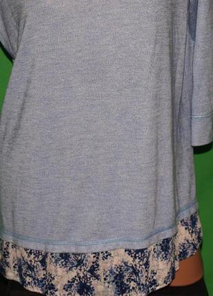 Красивый комбинированны свитер (хл замеры) ,с узором отлично смотрится.4 фото