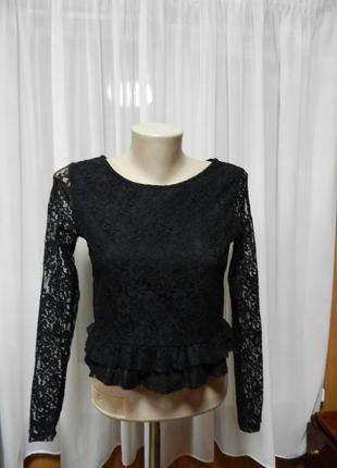 Красивая блуза гипюр,сетка  , стрейч ,