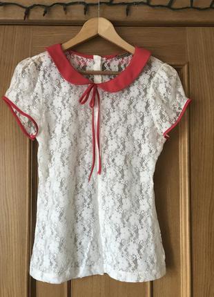 Нежная гепюровая блуза