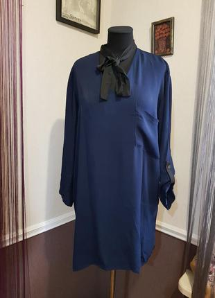 Синяя блуза туника zara