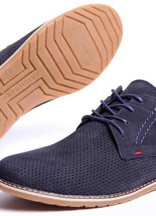 Туфли clarks sheridan натуральный нубук с перфорацией