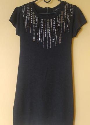 Трикоражное платье-туника