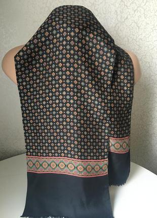 Monti шелковый мужской статусный шарф 140*28