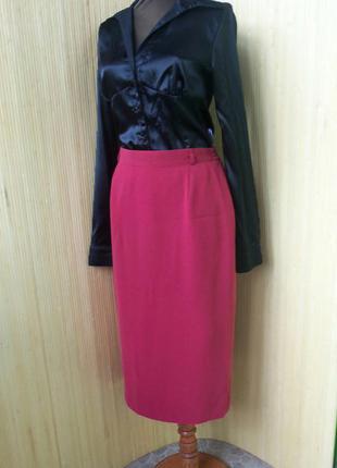 Красная юбка карандаш  gerry weber в деловом стиле  офисная