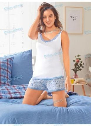 Нежная пижама с шортами домашний костюм esmara германия