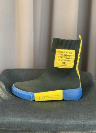 Женские высокие кроссовки-носки/жіночі кросівки