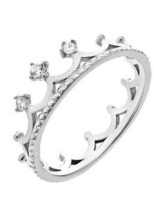 Кольцо корона серебро 925
