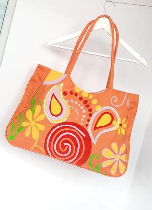 Большая пляжная сумка на пляж сумка для пляжа на молнии