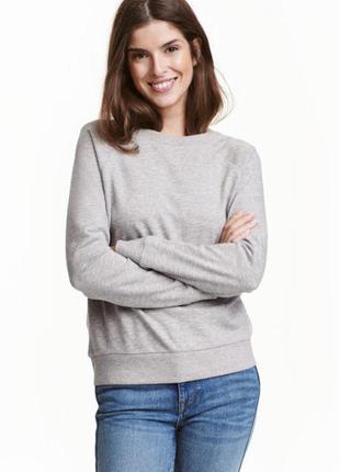 Свитшот, реглан, пуловер h&m размер s-m