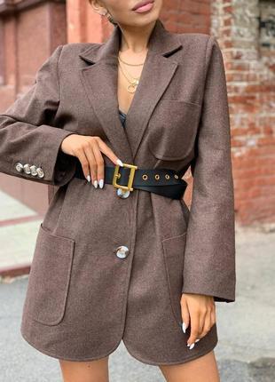 Женский пиджак оверсайз пальто блейзер