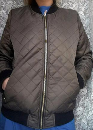 Бомбер хакки куртка бомпер осенний весенний демисезонный курточка