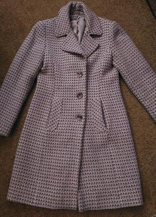 Пудровое нежно-розовое пальто next