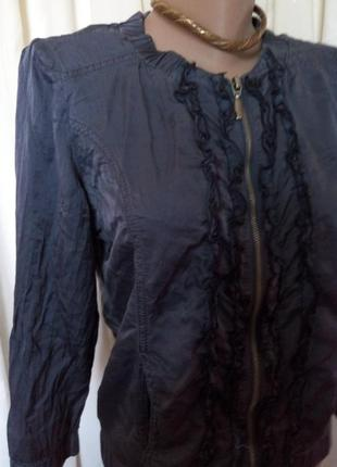 🔥💓распродажа!листопад цен!✨👍*seven sisters***легкая шелковая курточка разм48 пог-50см