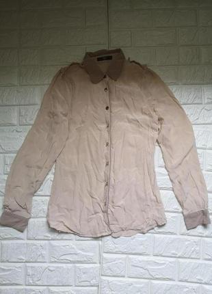 Шелковая рубашка блузка маленького размера