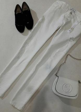 Стильные белые джинсы размер xxl