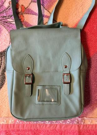 Рюкзак мятный термо сумка мята