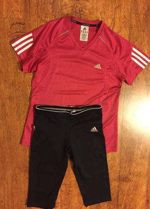 Спортивная футболка и лосины adidas (m/s)