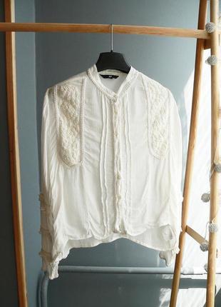 Очень красивая блузка h&m в вышивкой размер s-м