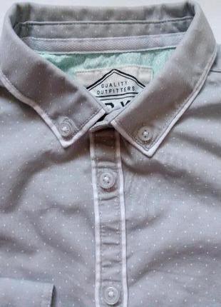 Рубашка для мальчика 7-8 лет next в горошек