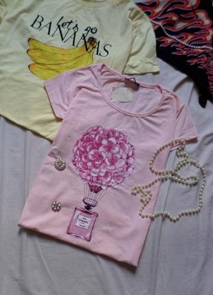 Новая розовая футболка с принтом турция