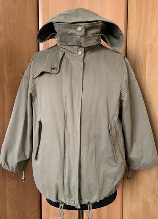 Куртка на весну, осень 2 вещи в одной цвета хаки zara p.m