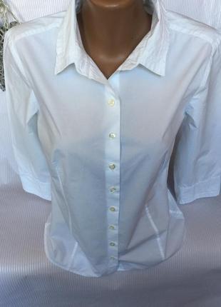 Крутая  брендовая , базовая белая рубашка