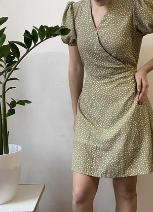 Летнее платье в цветочек с подкладкой