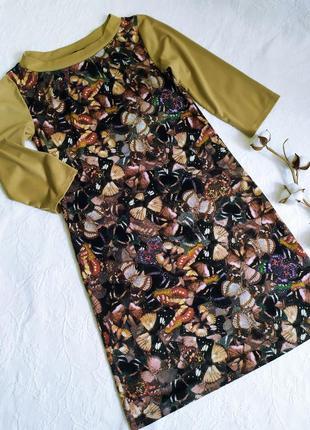 Теплое ,очень приятное к телу платье с бабочками.