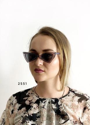 Модні сірі ретро-окуляри сонцезахисні к. 2551