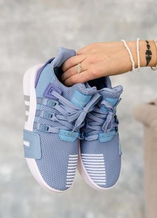 Кроссовки нежные для бега, для занятий фитнесом eqt bask adv blue