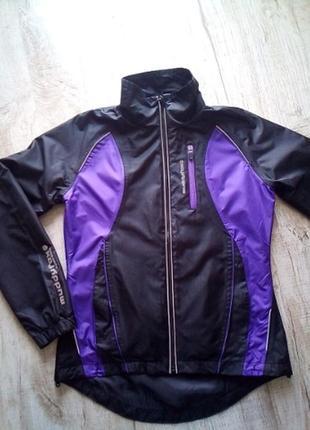 Куртка ветровка на подкладке с отражателями