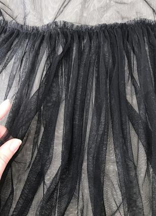 ... Прозрачная футболка длинная сетка сеточка из тюля с оборками длины миди5 81a476461cb