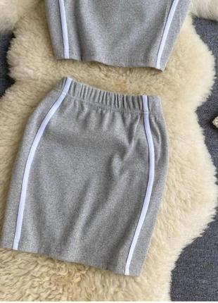 Костюм двойка топ + юбка