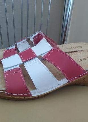 37,38,39,40 р.  новые кожаные шлепанцы босоножки с резинками