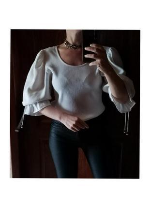 Винтажная блуза рукав буф country line блузка буфы