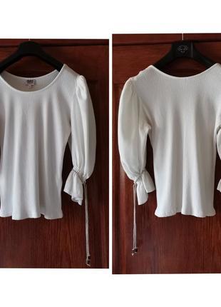 Винтажная блуза рукав буф country line блузка буфы2 фото