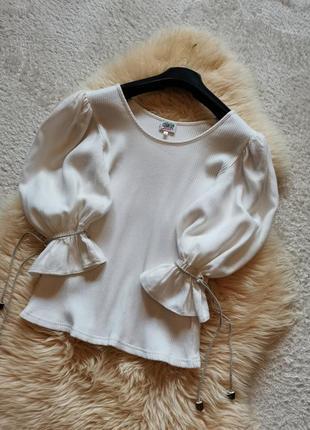 Винтажная блуза рукав буф country line блузка буфы3 фото