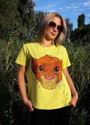 Стильная модная футболка с мультяшным принтом